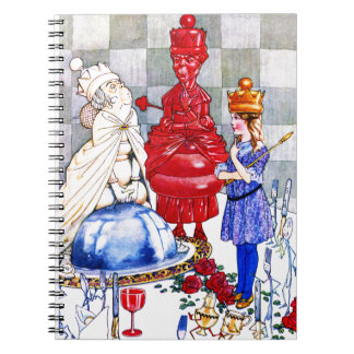 Queen Alice the Red Queen and The White Queen Spiral Note Book