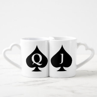 Queen and Jack nested mugs