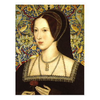Queen Anne Boleyn  - Portrait Postcard