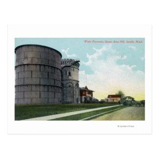 Queen Anne Hill Water Reservoirs Scene Postcard