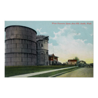 Queen Anne Hill Water Reservoirs Scene Poster