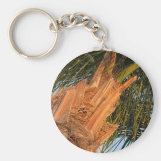 Queen Anne Palm Tree Basic Round Button Key Ring