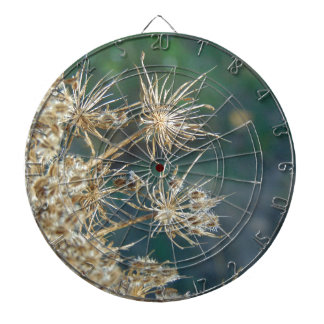 Queen Anne's Lace Close Up Dartboard