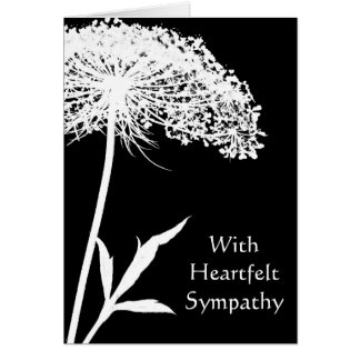 Queen Anne's Lace Sympathy Card