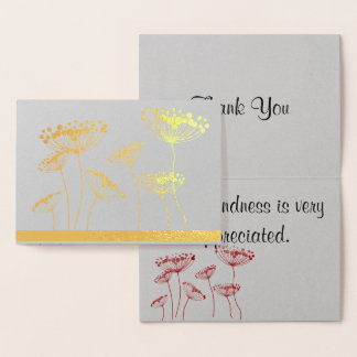 "Queen Anne's Lace ""Thank You"" Foil Card"