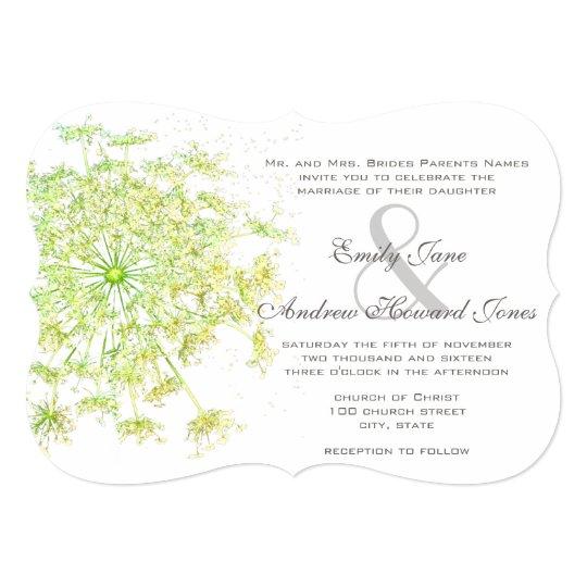 Queen Anne's Lace Wedding Invitation