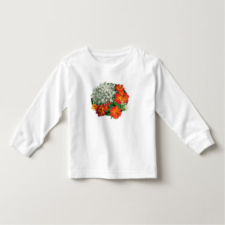 Queen Anne's Lace with Orange Flowers Kids T Shirts