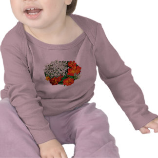 Queen Anne's Lace with Orange Flowers Kids Tees