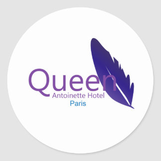 Queen Antoinette Hotel Round Sticker
