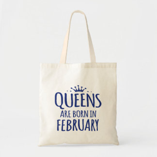 queen are born in february totebag tote bag
