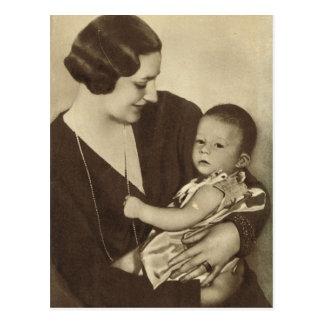 Queen Astrid of Belgium with Prince Albert Postcard