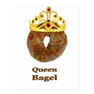 Queen Bagel Postcard