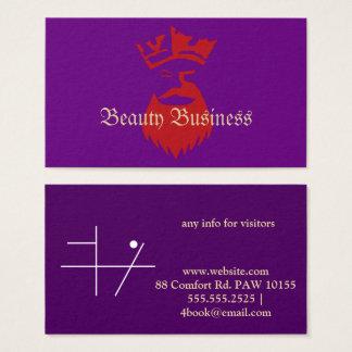 Queen Beard Beauty Business Business Card