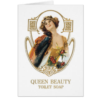 Queen Beauty toilet soap Greeting Card