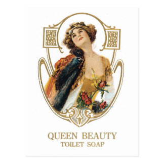 Queen Beauty toilet soap Postcard