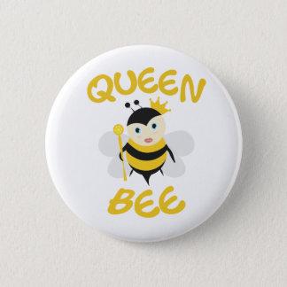 Queen Bee 6 Cm Round Badge
