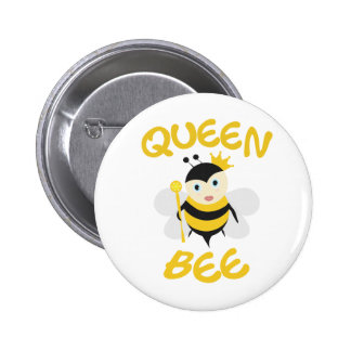 Queen Bee 6 Cm Round Badge