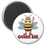 Queen Bee 6 Cm Round Magnet