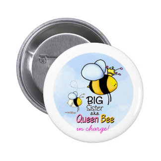 Queen Bee - Big Sister 6 Cm Round Badge