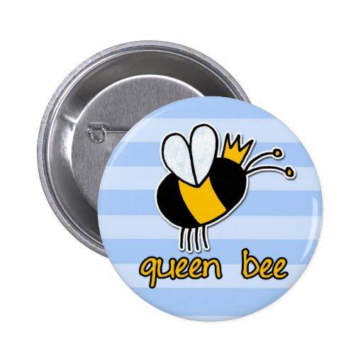 queen bee button sticker magnet