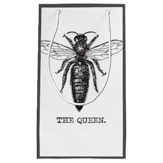 Queen Bee Classic Illustration Small Gift Bag