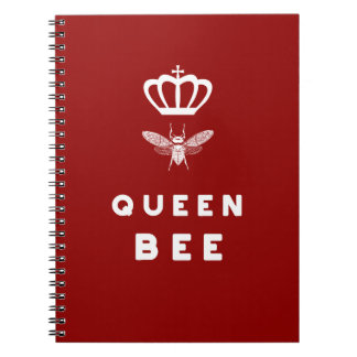 Queen Bee. Crown. Funny Cute Sayings. Notebooks