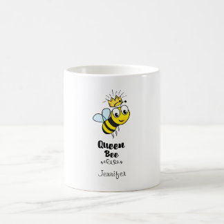 Queen Bee Cute Bumble Bee with Crown Personalized Coffee Mug