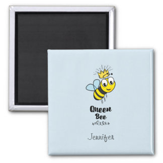 Queen Bee Cute Bumble Bee with Crown Personalized Magnet