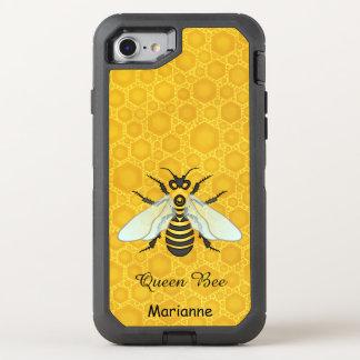 Queen Bee Honeybee Honeycomb Pretty   Add Name OtterBox Defender iPhone 8/7 Case