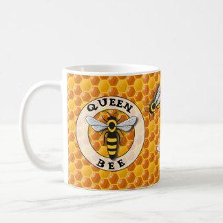 Queen Bee Honeycomb Coffee Mug