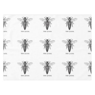Queen Bee Illustration Black White Tablecloth