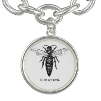 Queen Bee Illustration Vintage