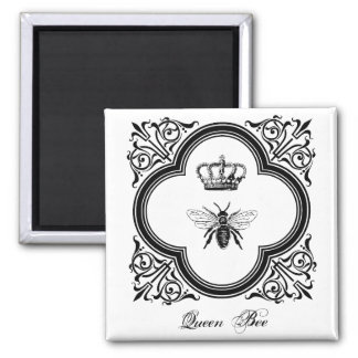 Queen Bee Square Magnet