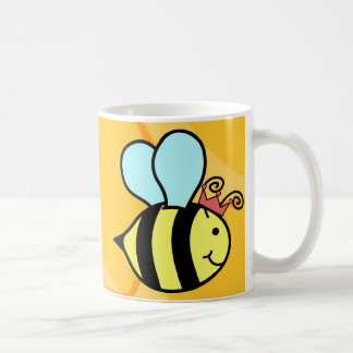 Queen Bee Basic White Mug