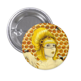 Queen Bee Pin Button - Apiphilia by Heather Rose