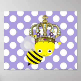 Queen Bee Polka Dot Frameable Poster