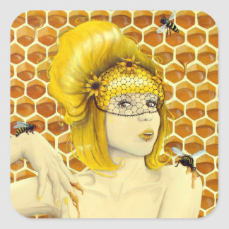 Queen Bee stickers - surreal fantasy art