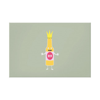 Queen Beer bottle with crone Zfq4y Canvas Print