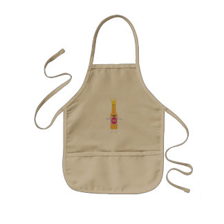 Queen Beer bottle with crone Zfq4y Kids Apron