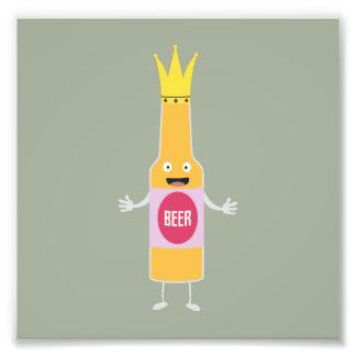 Queen Beer bottle with crone Zfq4y Photo Print