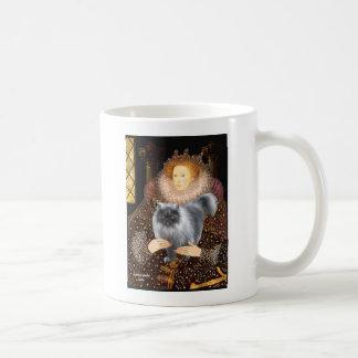 Queen- Blue Smoke Persian cat Basic White Mug