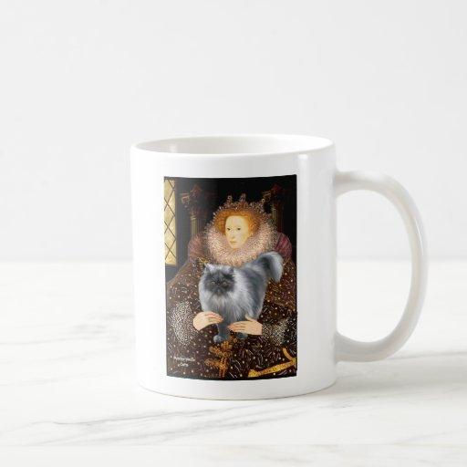 Queen- Blue Smoke Persian cat Mugs