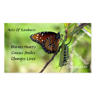 Queen Butterfly Random Acts of Kindness Card Pack Of Standard Business Cards