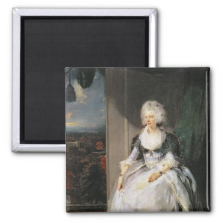 Queen Charlotte, 1789-90, wife of George III Square Magnet