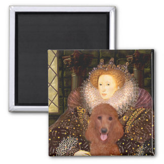 Queen - Dark Red Standard Poodle #1 Magnet