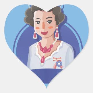 queen elizabeth 2 heart sticker