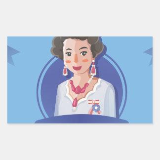 queen elizabeth 2 rectangular sticker