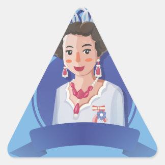 queen elizabeth 2 triangle sticker