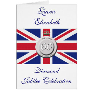 Queen Elizabeth 60 Year Jubilee Greeting Card