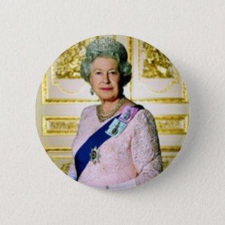 Queen Elizabeth 6 Cm Round Badge